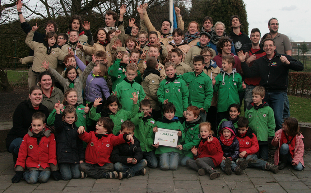 jantje beton collecte scouting rooi 2014